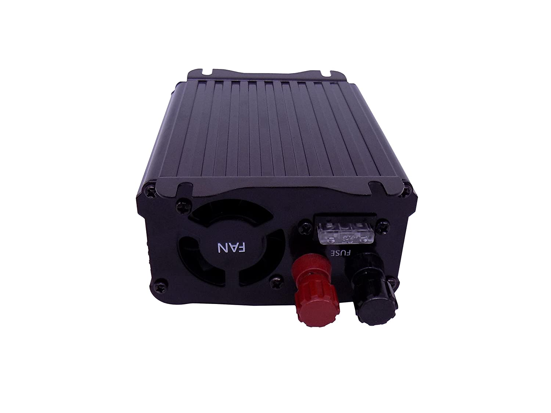 YJS 300W Inversor de Corriente DC 12V to AC 230V 240V Transformador para Cargador de Coche Inversor con 1 Toma Enchufe Y 2 Puertos USB DE 3,1 Inversor de Energia EPI300