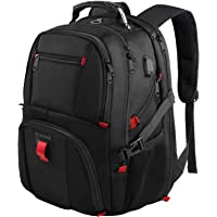 Travel Backpacks for Men, Extra Large College School Laptop Bookbags Gifts for Men Wowen with USB Charging Port,TSA Friendly Water Resistant Business Computer Bag Fit 17 Inch Laptops 45L,Black