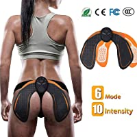 Baison ABS Stimulator Rechargeable Muscle Toner Trainer, Ultimate Ab Stimulator USB Rechargeable 6 Modes & 10 Levels, Portable Wireless Body Fitness Belt for Men & Women & Bodybuilders - Abdominal Work Out, ABS Power Fitness, ABS Muscle Training Gear, ABS Workout Equipment-Hip Trainer