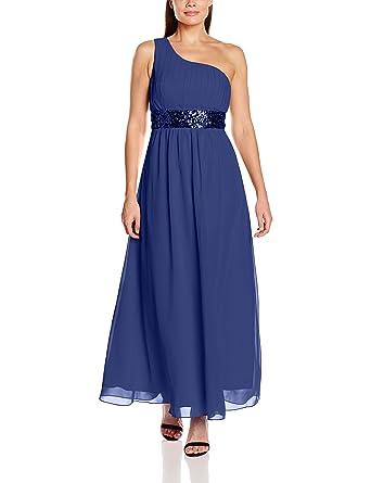 Lange Damen One Shoulder Kleider Pailletten Abendkleider lange ...