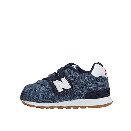 New Balance Zapatillas con ABROJO Modelo 574 Mesh IV574CR Azul/Blanco Tamaño: 21: Amazon.es: Zapatos y complementos