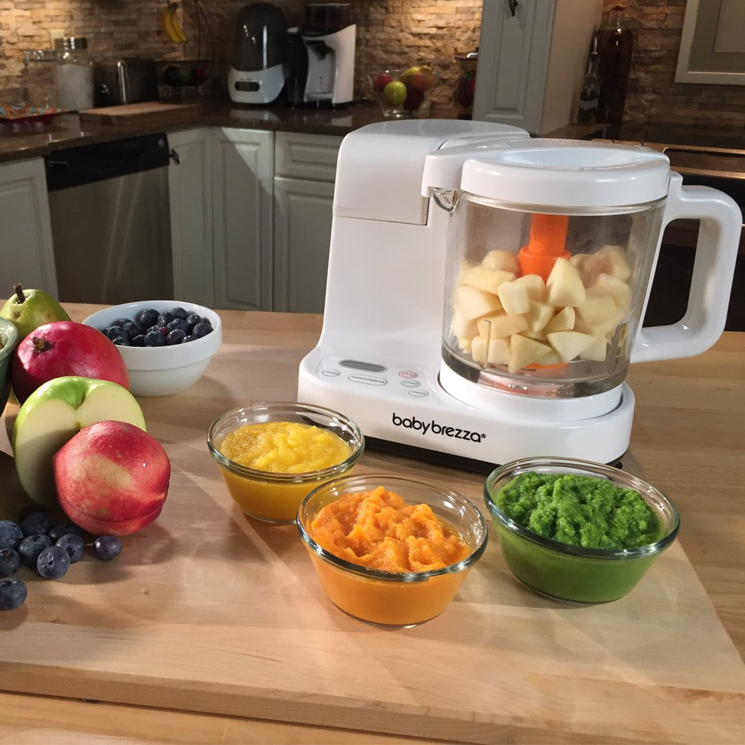 Baby Brezza Glass Baby Food Maker – Cooker and Blender to Steam and Puree Baby Food for Pouches in Glass Bowl - Make Organic Food for Infants and Toddlers – 4 Cup Capacity by Baby Brezza (Image #2)