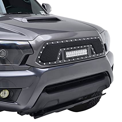 Amazon e autogrilles 12 15 toyota tacoma wire mesh front grille e autogrilles 12 15 toyota tacoma wire mesh front grille with led light bar aloadofball Choice Image