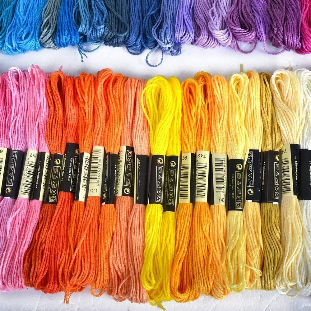 Embroidery Thread Embroidery Threads Embroidery Floss Sewing Threads Embroidery Crafting Crafts Floss Embroidery Sticktwist 8m 6ply Multicolor for Cross Stitch Crafting Friendship Ribbons 100 Colors