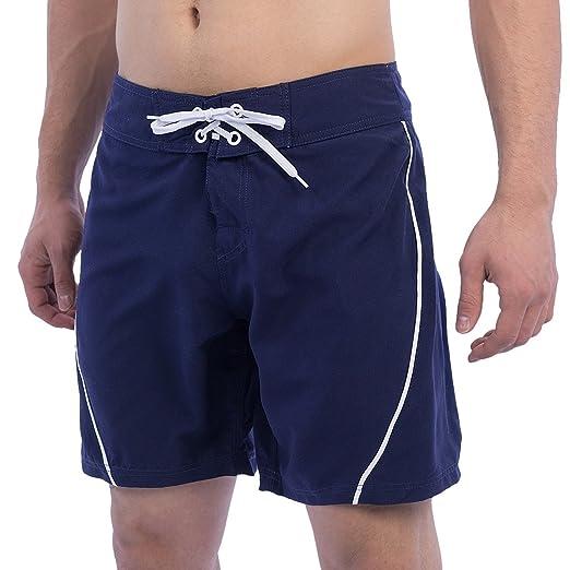 dade9ebdeb West Mens Tie Front Boardshorts Swim Trunks - Navy Blue (30, Navy Blue)