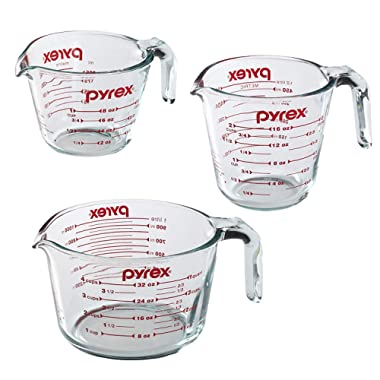 Pyrex Prepware 1-Cup, 2-Cup, 4-Cup Glass Measuring Cups
