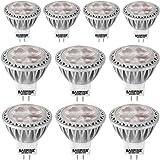 BAOMING 3W LED MR11 Spotlight Warm White(2700k) 35W Halogen Equivalent Bi Pin GU4 Base 12V AC/DC 250/lm Aluminum 30°Beam Angle 10-Pack