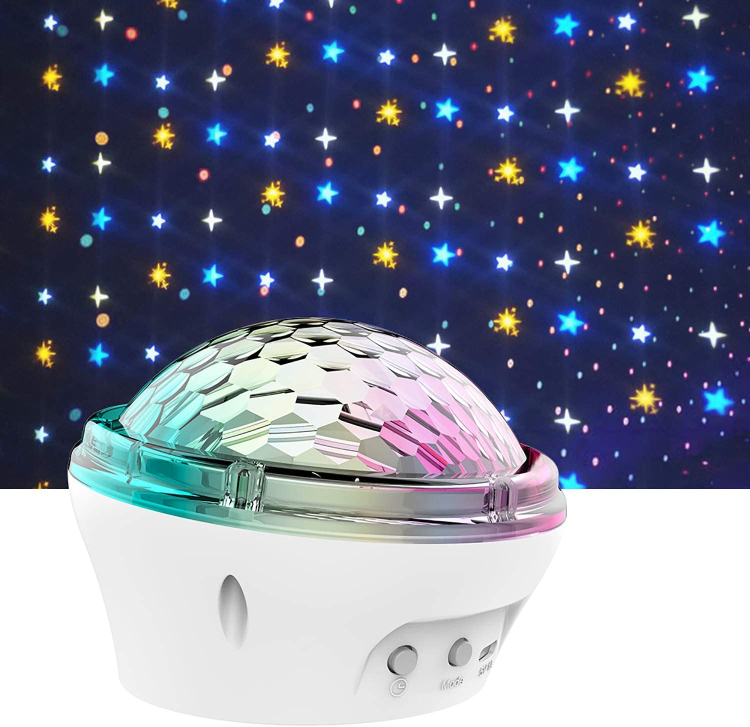 Moon Star Projector Light for Kids,Star Sky Projector Sky Night Light Projector Bedroom Ceiling Star Projector with Timer 3 4 5 6 7-12 Year Old Girls Boy-White