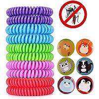 ACTOPP Bracelets Anti Moustique Pour Adultes et Enfants Protection Extérieure Intérieure 100% Naturel sans Deet 10 Packs 5 Couleur