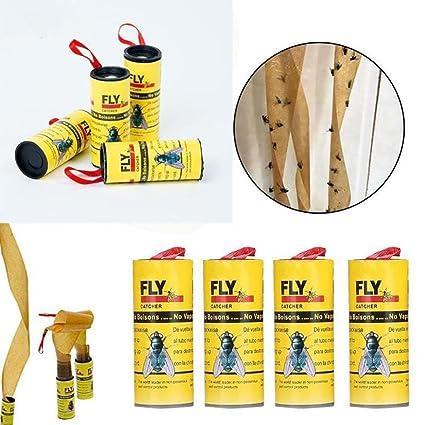 STRIR 4 Mosca Atrapasueños Ruedas, Atrapa Insectos – Trampa para Moscas Respetuoso con el Medio