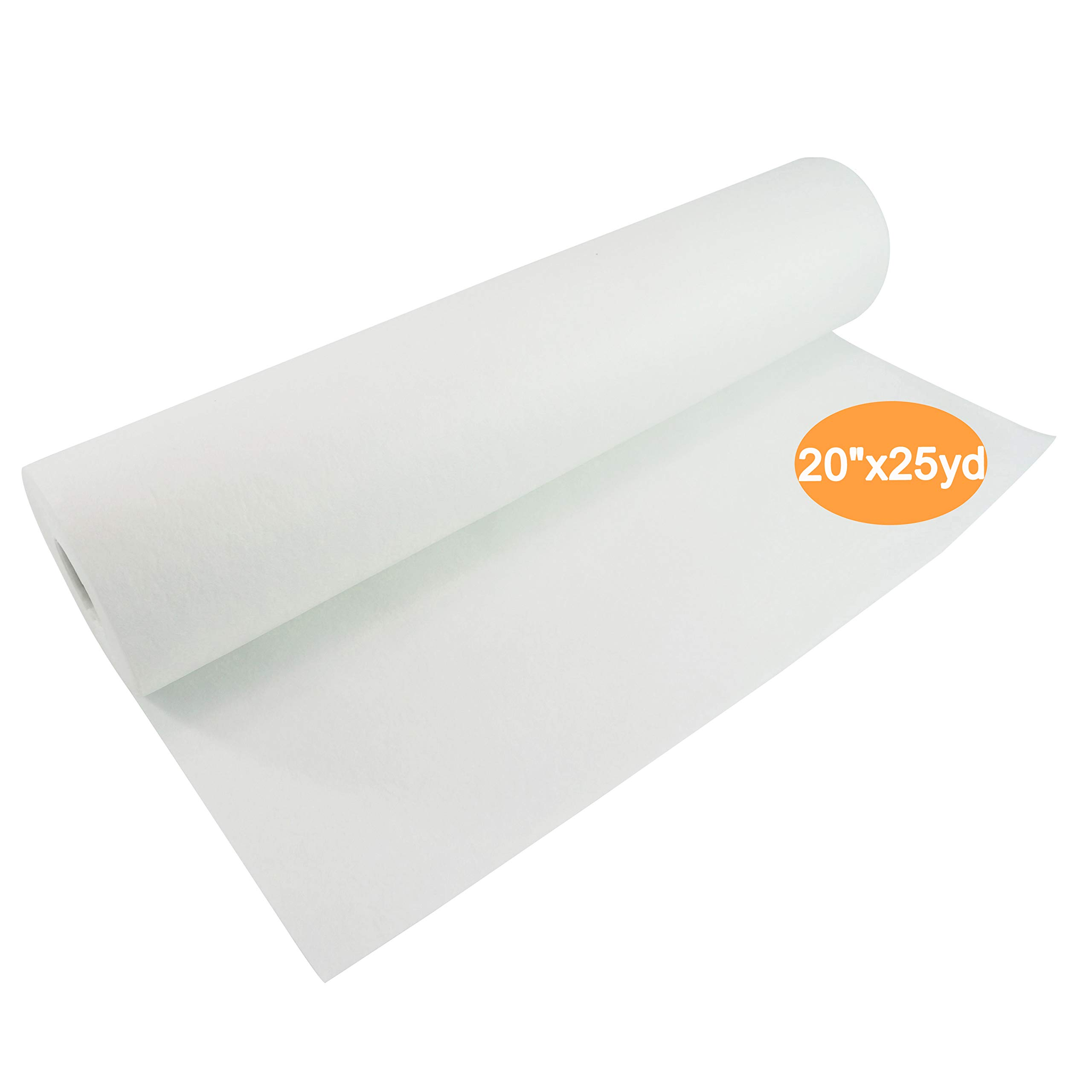 New brothread Cut Away Machine Embroidery Stabilizer Backing 20'' x 25 Yd roll - Medium Weight 2.5 Ounce - Cut into Any Sizes - for Machine Embroidery and Hand Sewing by New brothread
