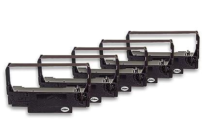 vhbw 5X Cinta de Tinta de Nailon para su Impresora matricial Epson ...