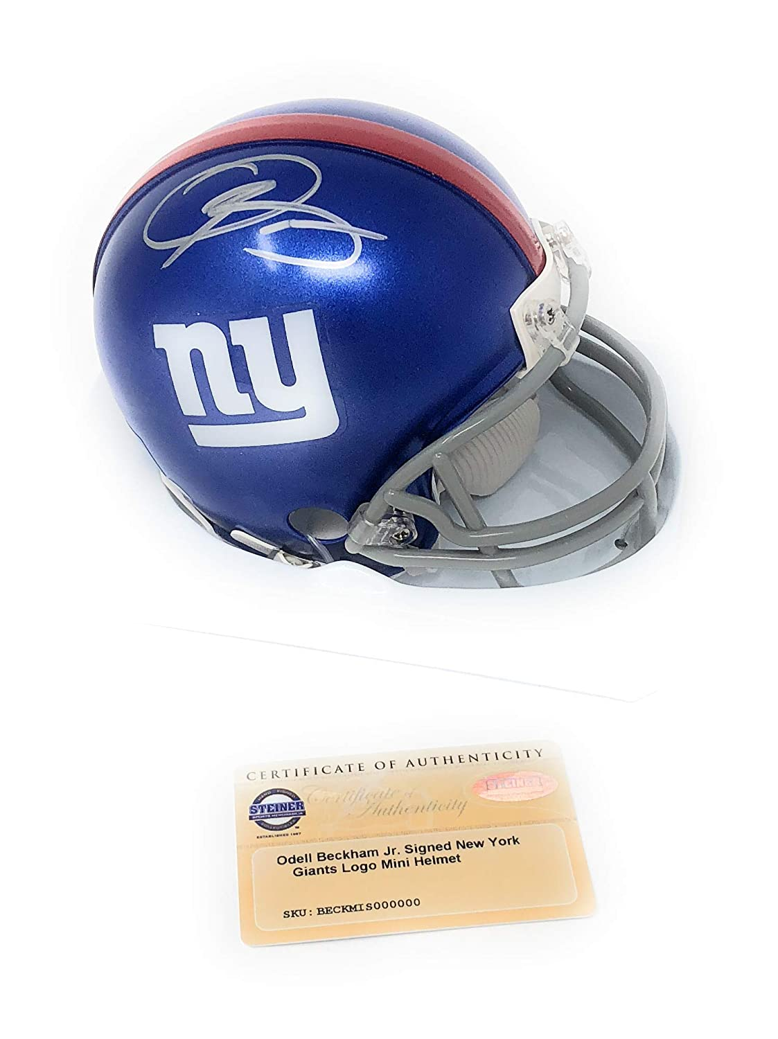 a3f17618ca9bc Odell Beckham Jr New York Giants Signed Autograph Mini Helmet Steiner  Sports Certified