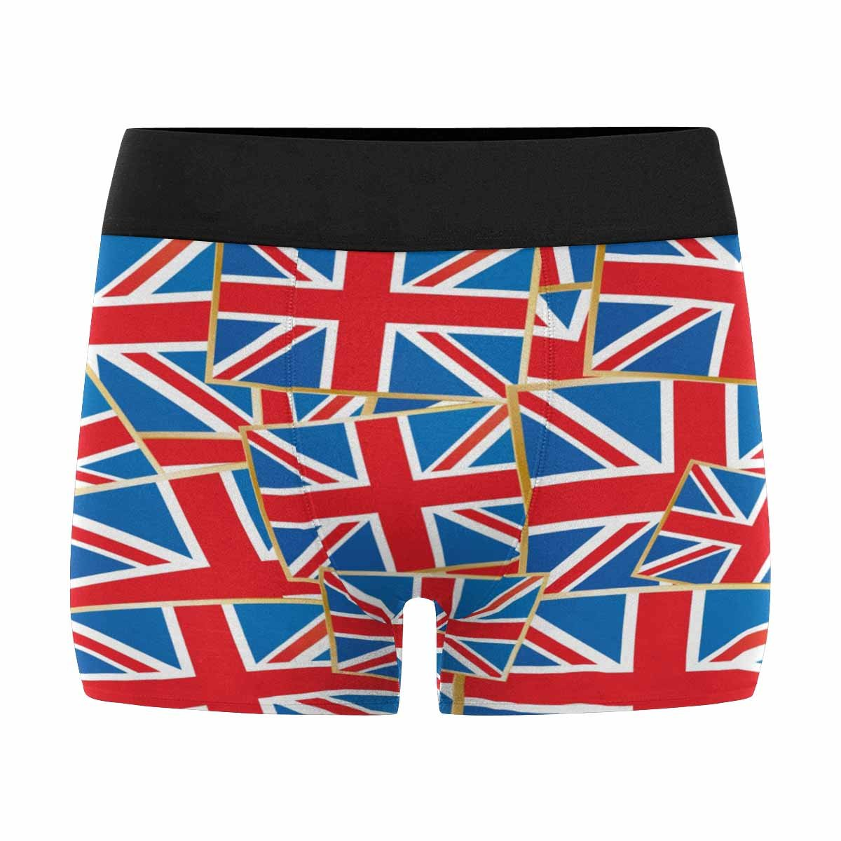 XS-3XL INTERESTPRINT Custom Mens All-Over Print Boxer Briefs Pattern of Great Britain Flags with Clipping Path