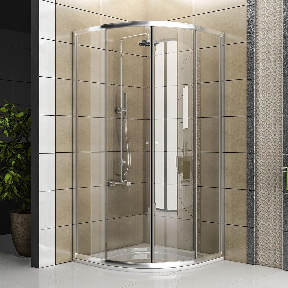 Mampara Cuadrante/Real cabina de ducha de cristal/Ducha/Mampara/Modelo fugo de cuarto circular (/80 x 80 x 190 cm/TOP Oferta: Amazon.es: Hogar