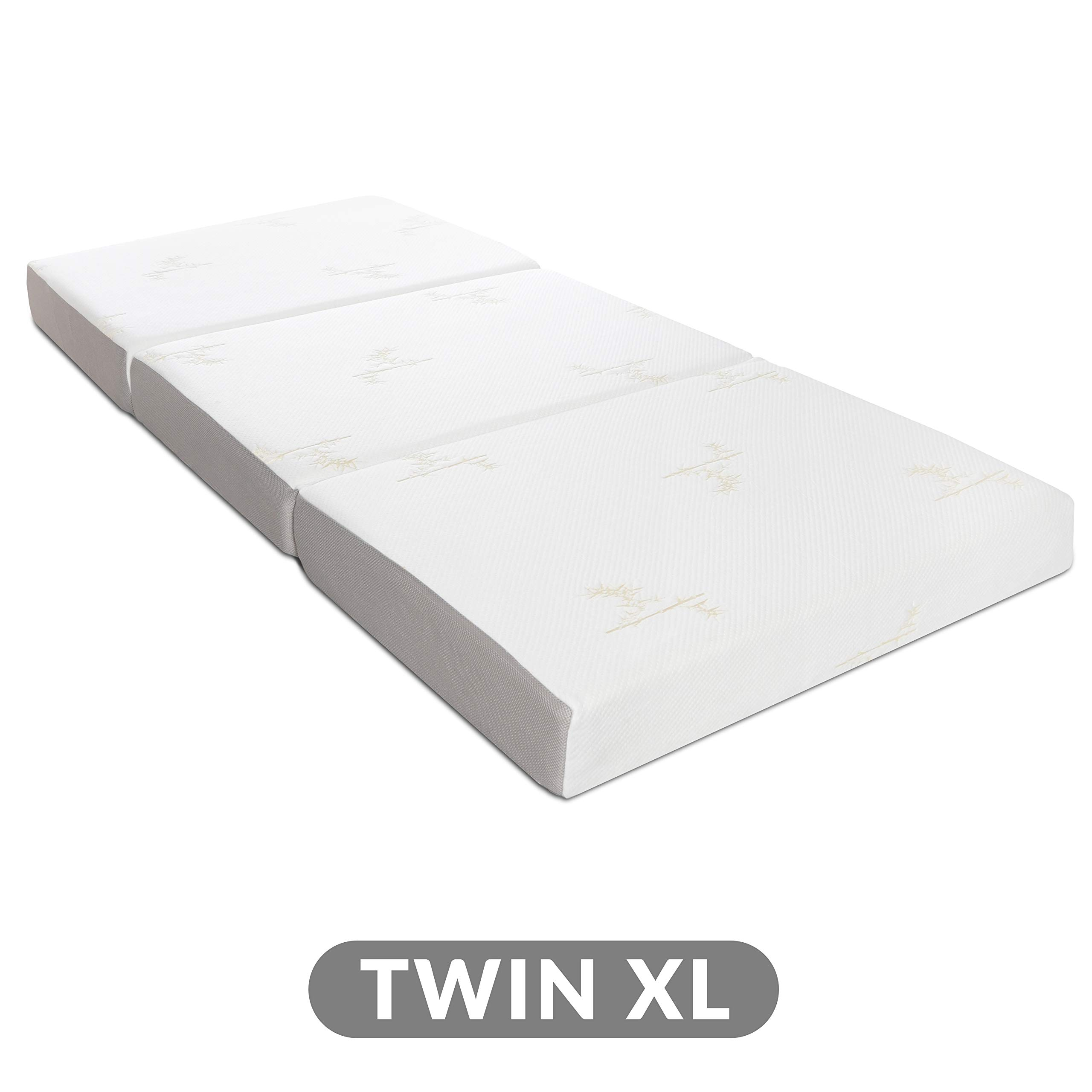 Milliard Tri Folding Memory Foam Mattress with Washable Cover Twin XL (78 inches x 38 inches x 6 inches) by Milliard