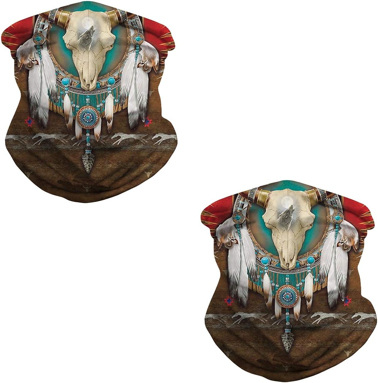 JooMeryer Seamless Bandanas Balaclava Face Mask Neck Gaiter Tie Dye Print for Men Women