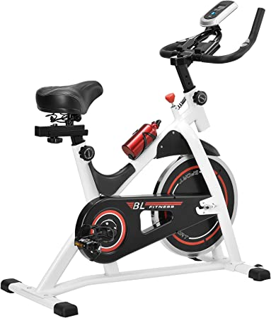 in.Tec] Bicicleta estática/Indoor Cycling - Blanca - Ejercicio en casa - Fitness - Spinning: Amazon.es: Hogar