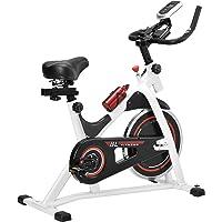 [in.Tec] Bicicleta estática/Indoor Cycling - Blanca - Ejercicio en casa - Fitness - Spinning