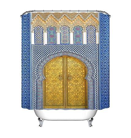 Lb Marokkanische Arabische Art Goldenes Tor Duschvorhang 180x180 Cm