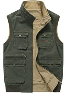 Amazoncom Humvee Cotton Safari Vest With Extra Pockets Sports