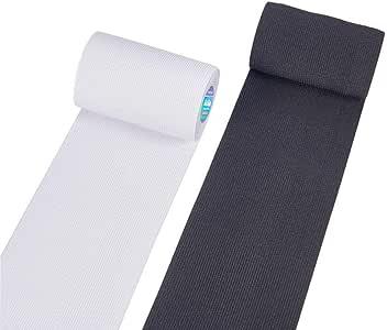 BENECREAT 6m 10cm de Ancho Blanco y Negro Heavy Stretch Banda Elastica de Alta Elasticidad (3m / Color): Amazon.es: Hogar
