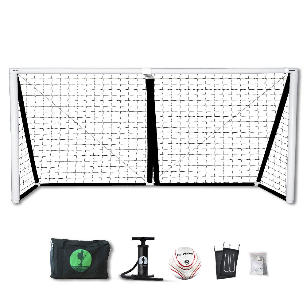 Eco Walker Soccer Goal Portable Inflatable Goal Size 12' x 6' With Carrying Bag Pump Soccer Ball