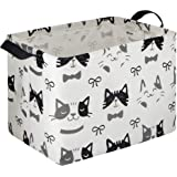 HIYAGON Rectangular Storage Box Basket Baby, Kids Pets - Fabric Collapsible Storage Bin Organizing Toys,Nursery Basket,Clothi