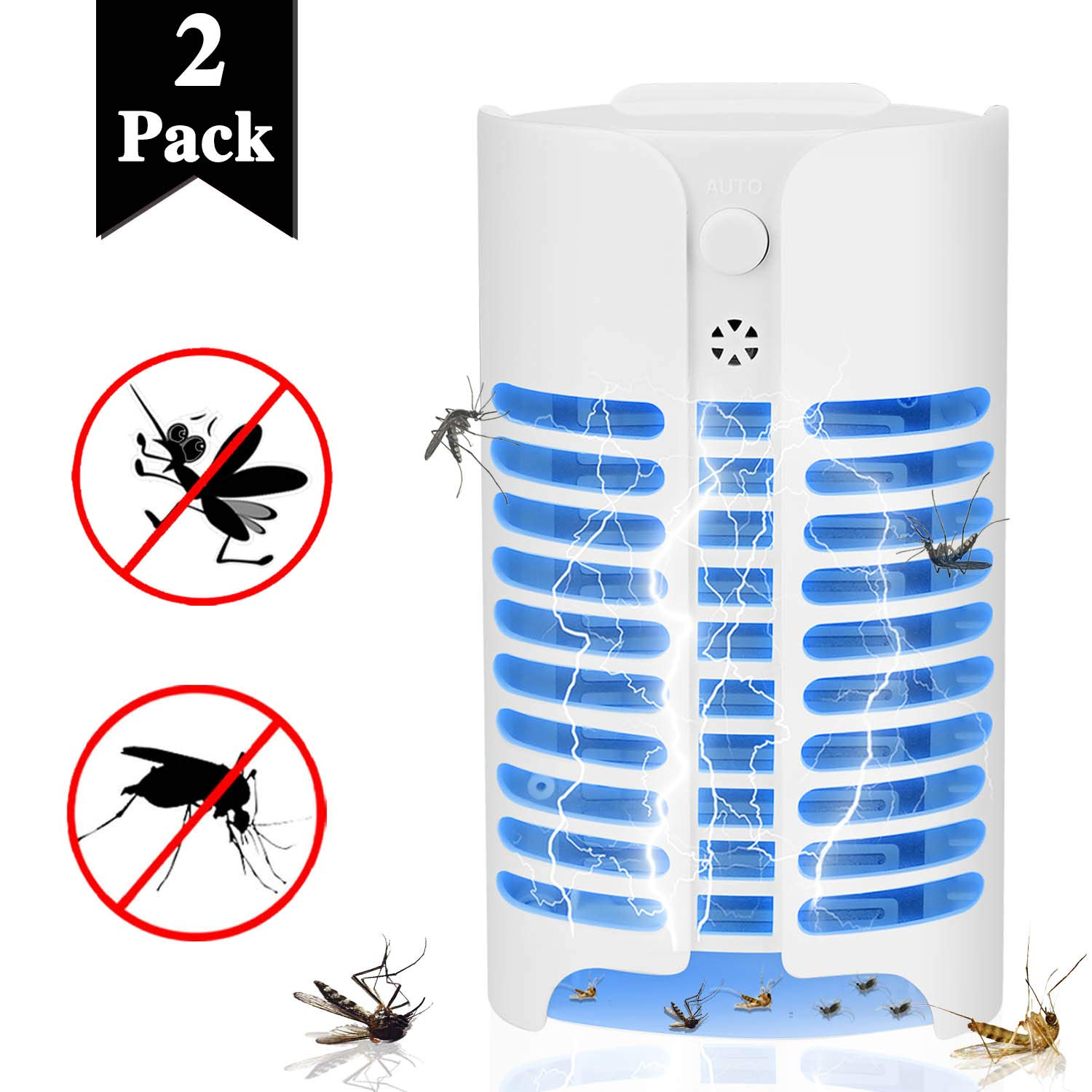 Aorecum Electric Indoor Bug Zapper,Mosquito Killer, Insect and Fly Zapper Catcher Killer Trap with UV Bug Light with Large Coverage 100% Safety for Home, Office and Patio Indoor use by Aorecum