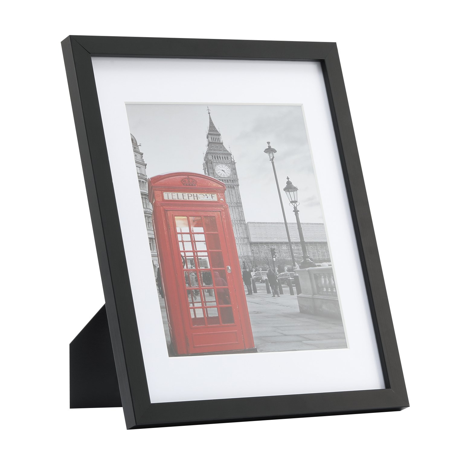 One Wall Tempered Glass 1PCs 11x14 Picture Frame with Mats for 8x10 ...