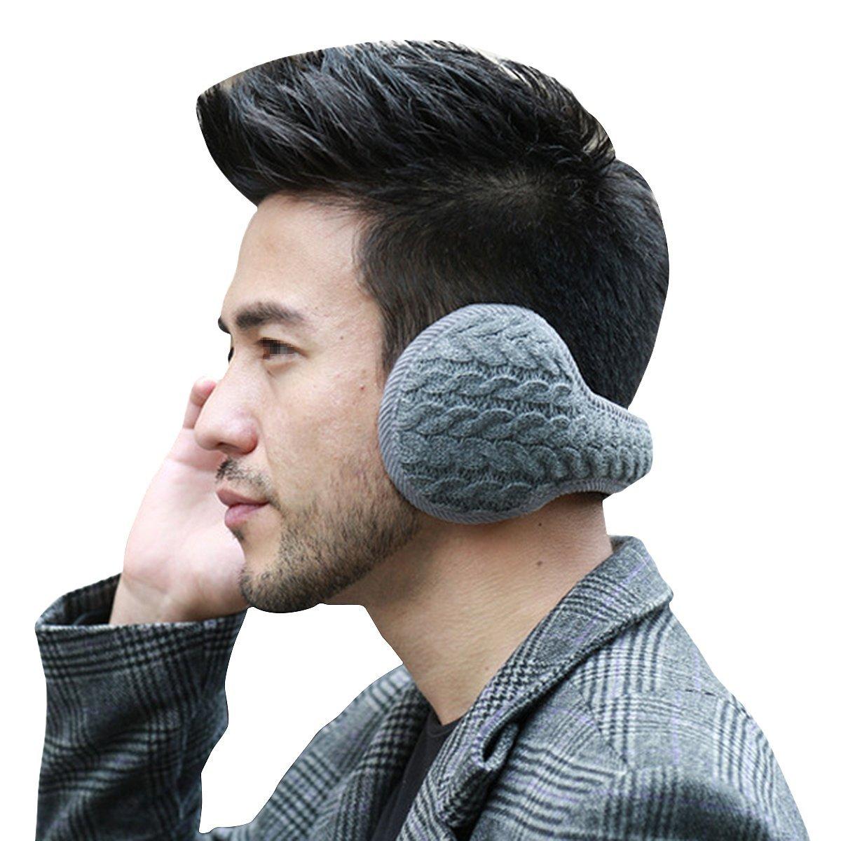 Butterme Unisex Winter Warm Knitted Ear Cover Soft Plush Earmuff for Outdoor,Ski,Party(Grey) ZUMUii ZUMU00002402