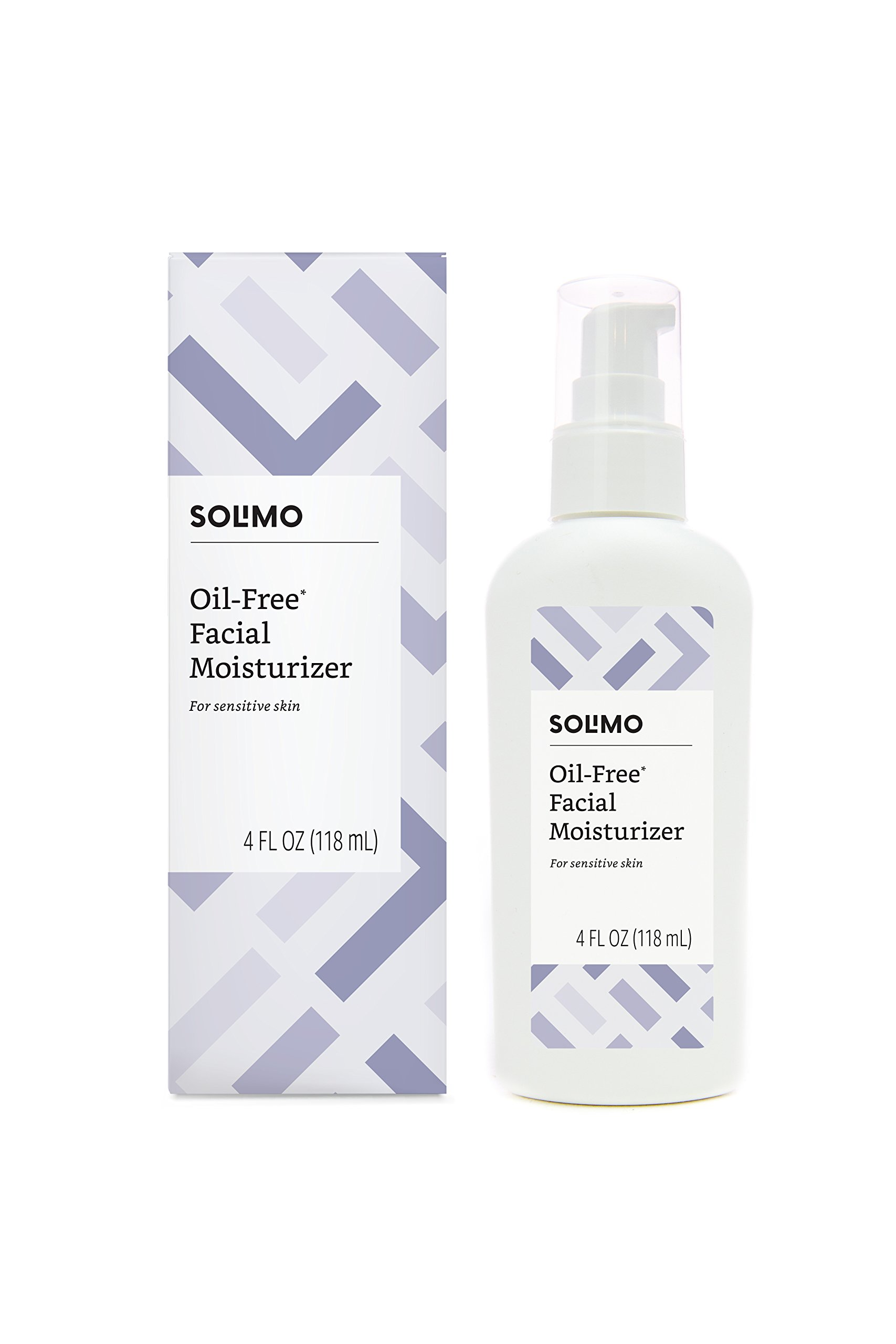 Amazon Brand - Solimo Oil-free Facial Moisturizer for Sensitive Skin, 4 Fluid Ounce