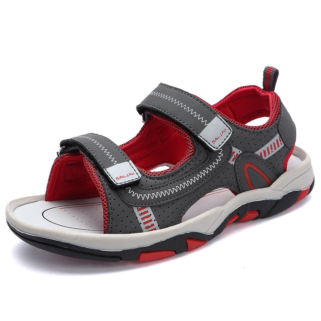 BTDREAM Kids Boy and Girl's Adjustable Strap Athletic Sports Sandals Summer Outdoor Open Toe Beach Shoes