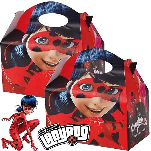 4 Cajas de Regalo * Lady Bug * DE cartón para Fiesta ...
