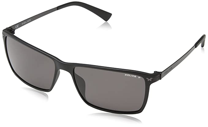 Police S1957 gafas de sol, Gris (SEMI-MATT BLACK), Talla ...