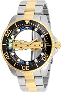 Invicta Men's 'Pro Diver' Mechanical Hand Wind Stainless Steel Watch, Color:Two Tone (Model: 26409)