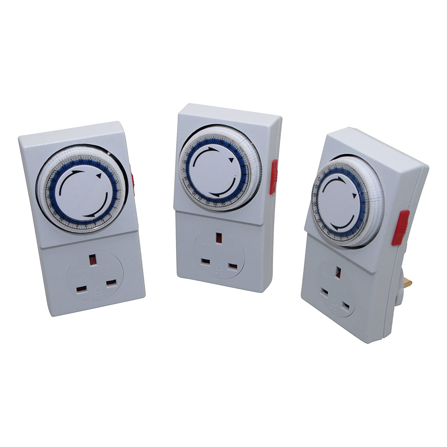 SMJ MPIT3C - Triple Pack Mechanical 24HR Plug In Timer SMJ Electrical MPIT3C-DX Hardware Wall Plugs Other Wall Plugs Clocks Clocks Stationery Products Stationery Products