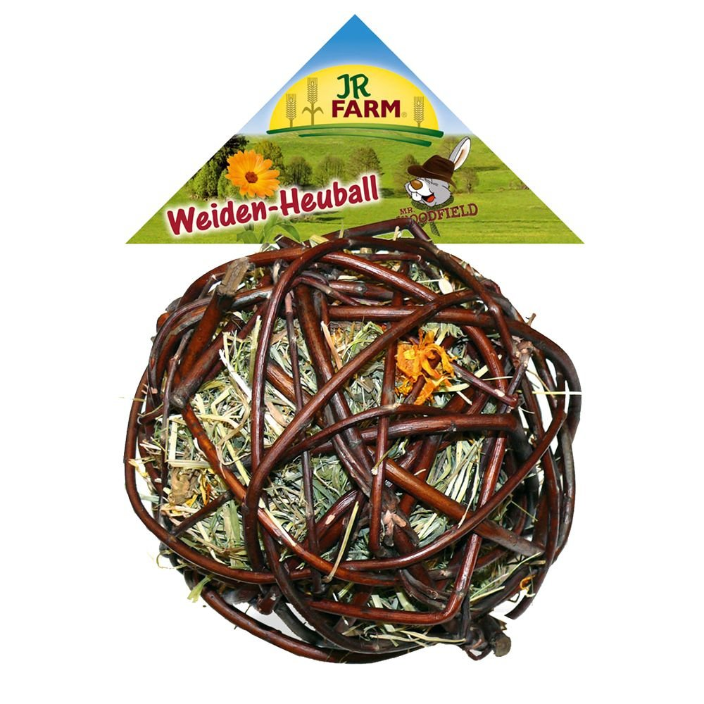 Jr Farm Pelota de madera de sauce con heno para roedores Jrfarm