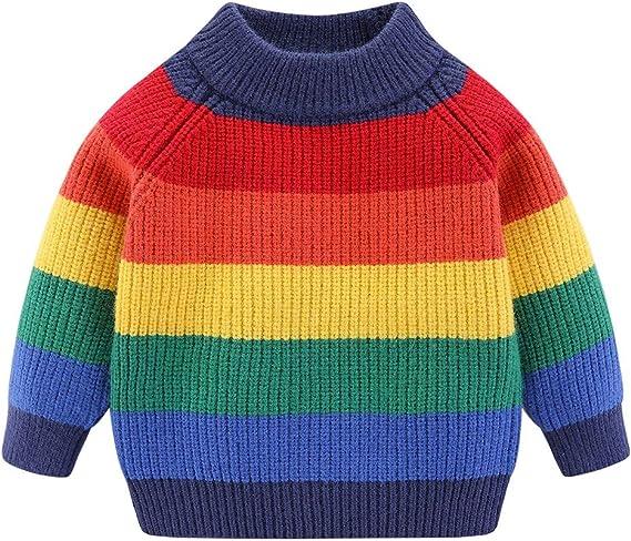 Mud Kingdom Cute Little Girls Sweater Fleece Turtleneck Solid Color