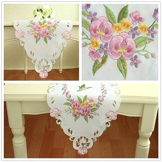 De acción de gracias bordado de flores tapetes para la mesa camino ...