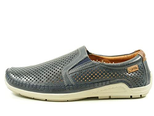 Pikolinos 06H-3088 Azores Zapatos Mocasines de Cuero para Hombre, schuhgröße_1:46 EU;Farbe:Azul: Amazon.es: Zapatos y complementos