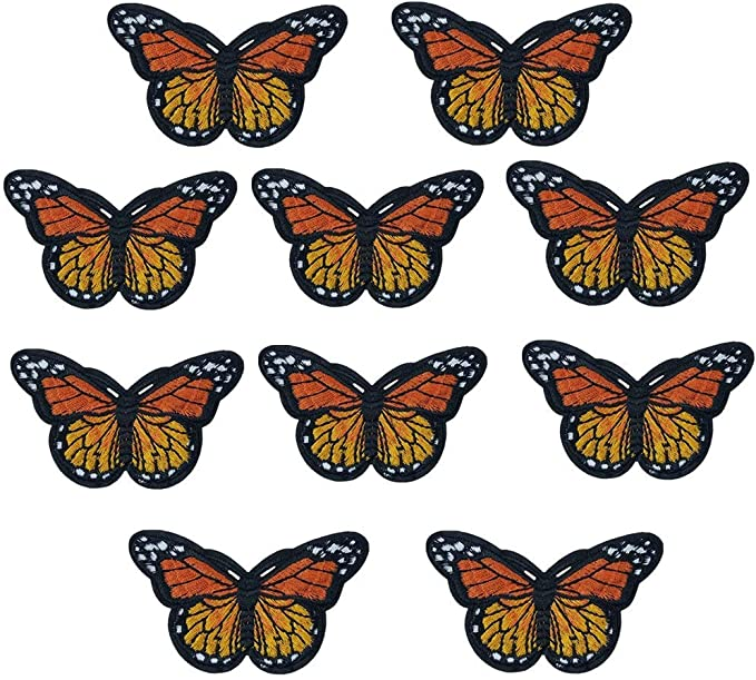 Jeans Sew on Butterfly Patches Embroidery Applique Patches for Arts Crafts DIY Decor XINRUI 30 Pieces Butterfly Iron on Patches Arts Craft Sew Making Jackets