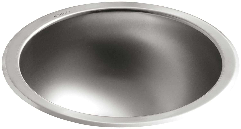 KOHLER K-2610-SU-NA Bolero Round Self-Rimming Undercounter Bathroom Sink
