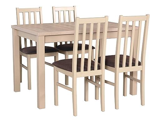 Mirjan24 DMXZ - Juego de Mesa y sillas (4 sillas, Mesa y sillas ...