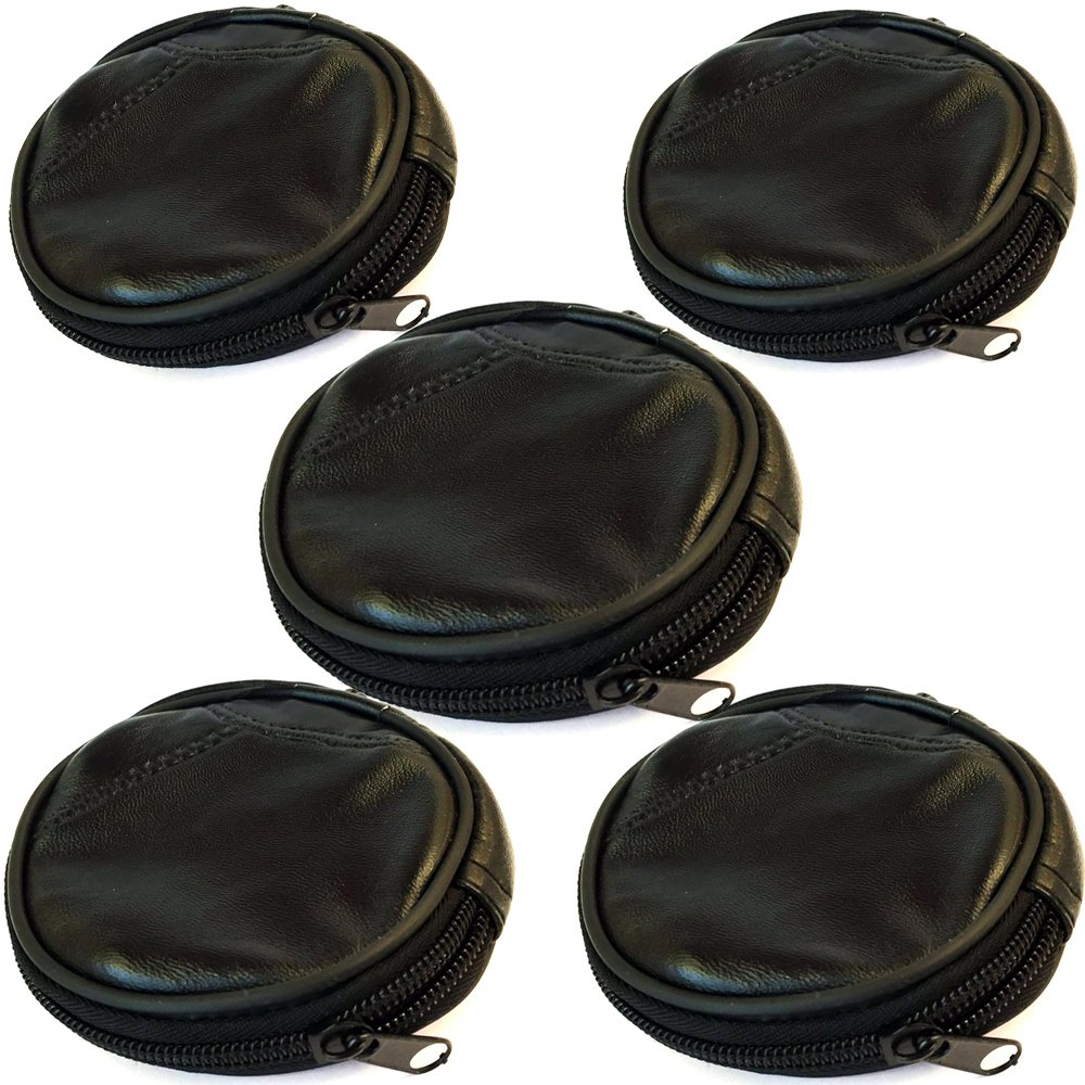 Men's Women's Genuine Leather Squeeze Coin Purse change Holder