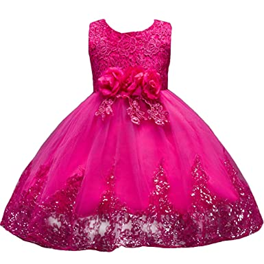 IBTOM CASTLE Girl Flowers Sleeveless Wedding Formal Dress Kids Princess Bridesmaid Christening Party Dresses
