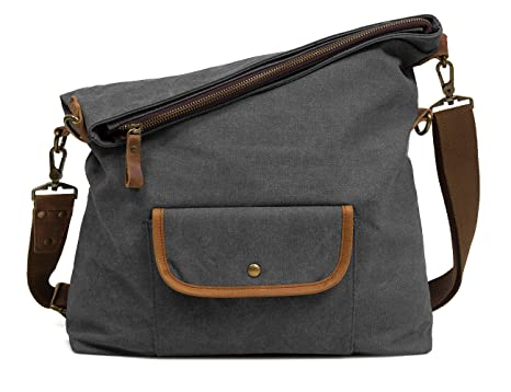 11d9ab24b6e9 Image Unavailable. Image not available for. Colour  ECOSUSI Canvas Hobo Bag  Crossbody School Messenger Shoulder Bags ...