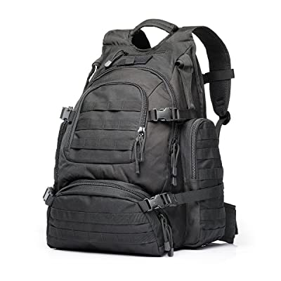 yakeda® Les Hommes Et Les Femmes, épaule sacs de la Grande Capacité Sac étanche Sac à dos en plein air tactique militaire Sac à dos 60L–a88042, noir (Noir) - A88042