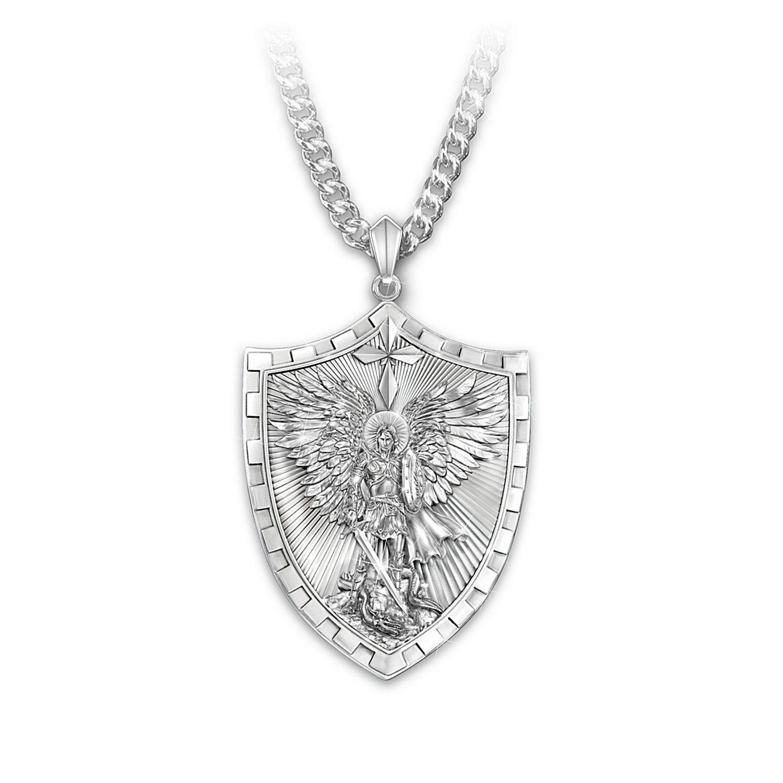 Men's Necklace: Triumph Of St. Michael Pendant Necklace by The ...