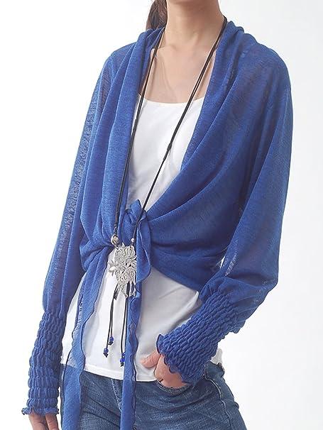 Amazon.com: idea2lifestyle Sheer de la mujer Zen chaqueta de ...
